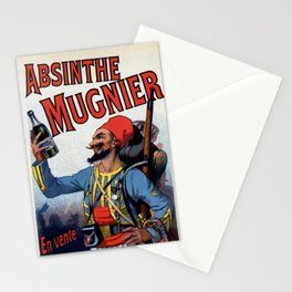 Absinthe Mugnier vertical banner Stationery Cards