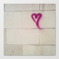 Graffiti Heart Canvas Print