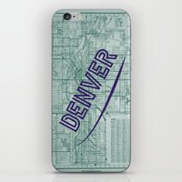 denver iPhone & iPod Skins featuring Denver by Dweezle