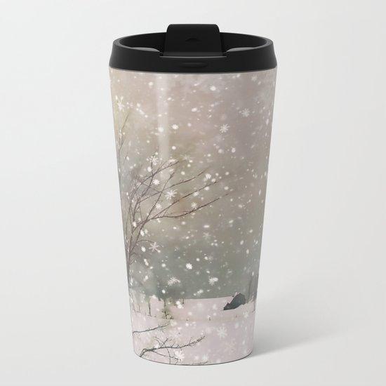 Snowfall Metal Travel Mug