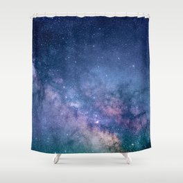 Milky Way Stars (Starry Night Sky) Shower Curtain