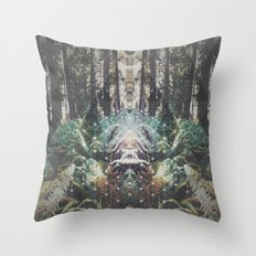 Forest Grid Throw Pillow