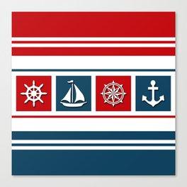 Nautical symbols Canvas Print