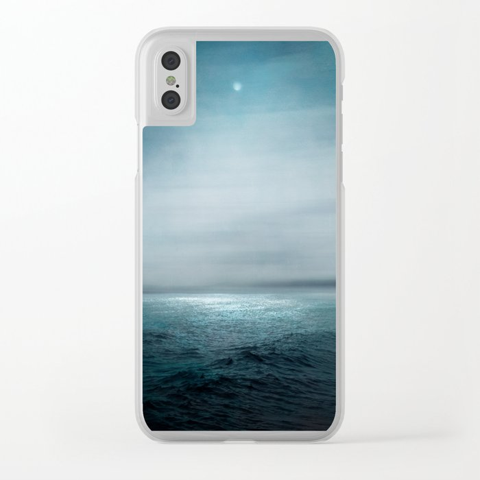 Sea Under Moonlight Clear iPhone Case
