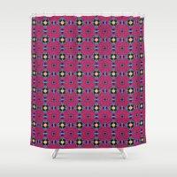 pop art Shower Curtains featuring Pop Art by 2Linesmeet