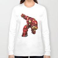 iron man Long Sleeve T-shirts featuring IRON MAN IRON MAN by Smart Friend