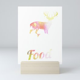 Cute & Funny Fast Food Buck Hunting Deer Hunter Mini Art Print