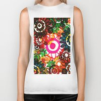 hippy Biker Tanks featuring Hippy Shake! by Charlotte Douthwaite