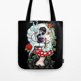 Alice in Zombieland - Schmokin' Caterpillar Tote Bag