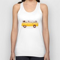 truck Tank Tops featuring Yellow Van by Florent Bodart / Speakerine