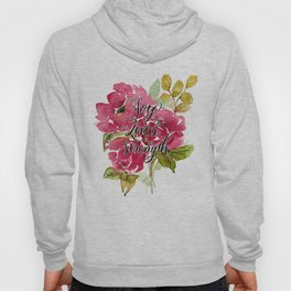 Joy of the Lord Watercolor Floral Hoody