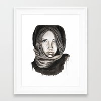 ice Framed Art Prints featuring Ice by Kylerg