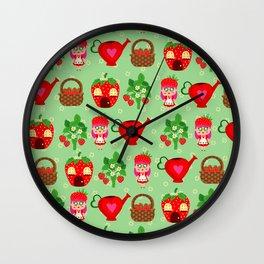 Mini Tiny Strawberry Girl Wall Clock
