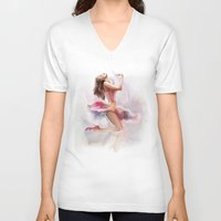 dancing V-neck T-shirts featuring dancing by tatiana-teni