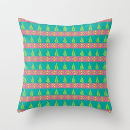 Leaves and Borders Throw Pillow