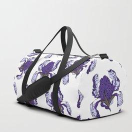 T.F TRAN PURPLE LEOPARD IRIS Duffle Bag
