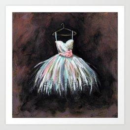 Ballerina Dress 3 - Painting Art Print