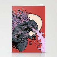 2001 Stationery Cards featuring Godzilla 2001 by Leonardo LAGONZA Gonzalez