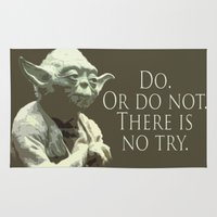 yoda Area & Throw Rugs featuring Yoda by DisPrints