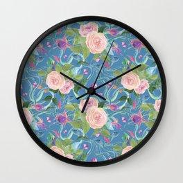 blue snakes pattern Wall Clock