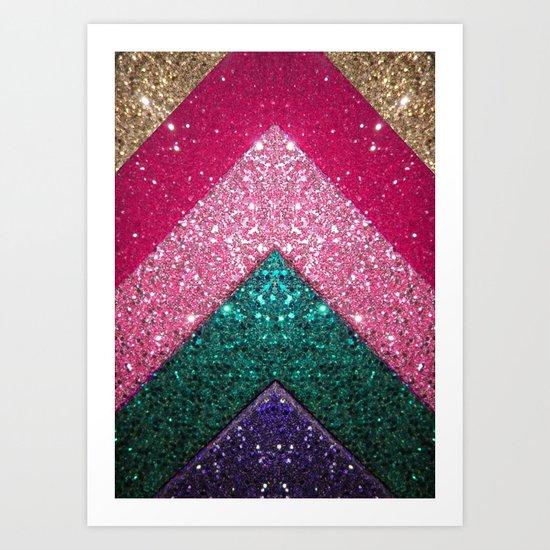 The Glittery Way Art Print