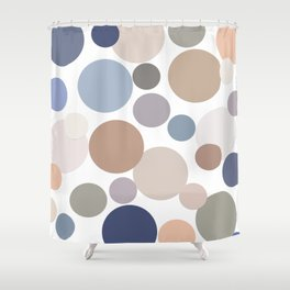 Cool Circle Palette Shower Curtain