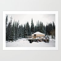 Yurt Life Art Print
