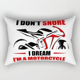 Funny I Don't Snore I Dream I'm A Motorcycle Snoring Biker T-Shirt Rectangular Pillow
