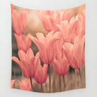 tulips Wall Tapestries featuring Tulips by Maria Heyens