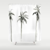 "palms Shower Curtains featuring ""Palms"" by  Tori Wise"