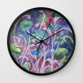 Poppies in the cool of the evening Wall Clock