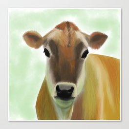 The Jersey - the prettiest cow in the world Canvas Print