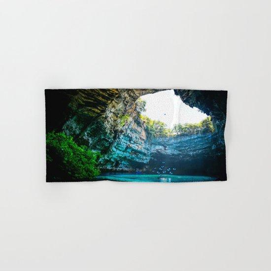 Sea Cave in Greece Hand & Bath Towel