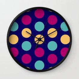 54 Colorful circles - matches 30, 34, 38, 42, 46, 50 patterns Wall Clock