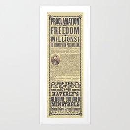 The Emancipation Proclamation Broadside Art Print