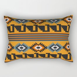 Geometric with colorful stripes Rectangular Pillow