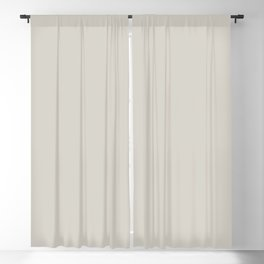 AMMONITE Neutral solid color Blackout Curtain