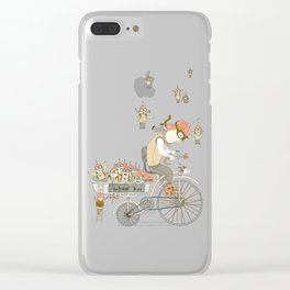 School bus Clear iPhone Case