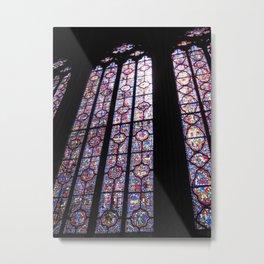 Vitraux de Sainte Chapelle Metal Print