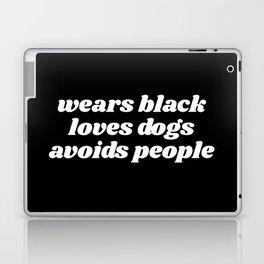 wears black Laptop & iPad Skin