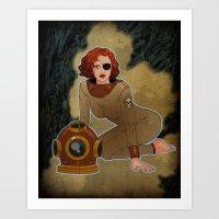 Deep Sea Diva Art Print
