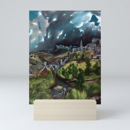 El Greco View of Toledo Mini Art Print