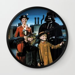 Darth Vader in Mary Poppins Wall Clock