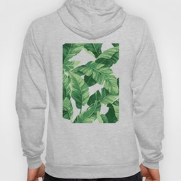 Tropical banana leaves IV Hoodie