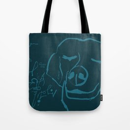 Smell life. Blue Tote Bag