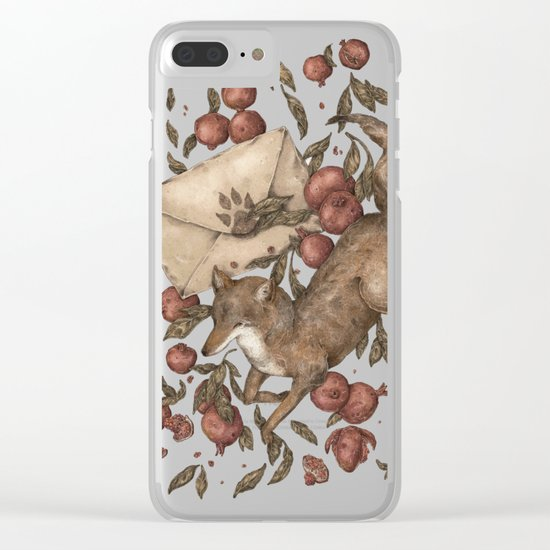 Coyote Love Letters Clear iPhone Case