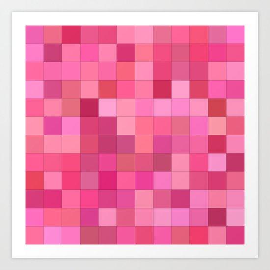 Girly squares Art Print