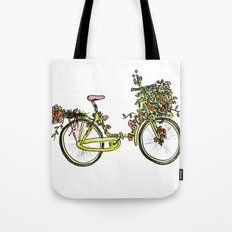 Flower-bike Tote Bag