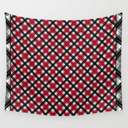 Tartan , red , black , gray Wall Tapestry