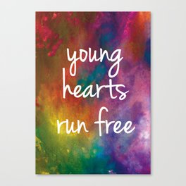Young Hearts Run Free 1 Canvas Print